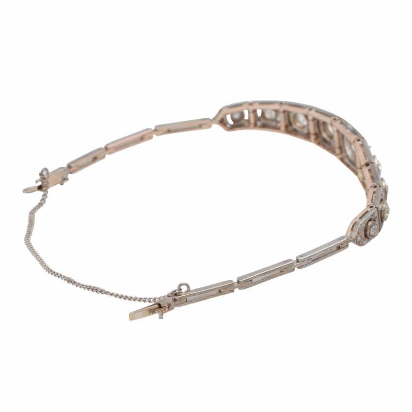 Art Deco bracelet with old European cut diamonds, together CA. 2 ct - photo 3