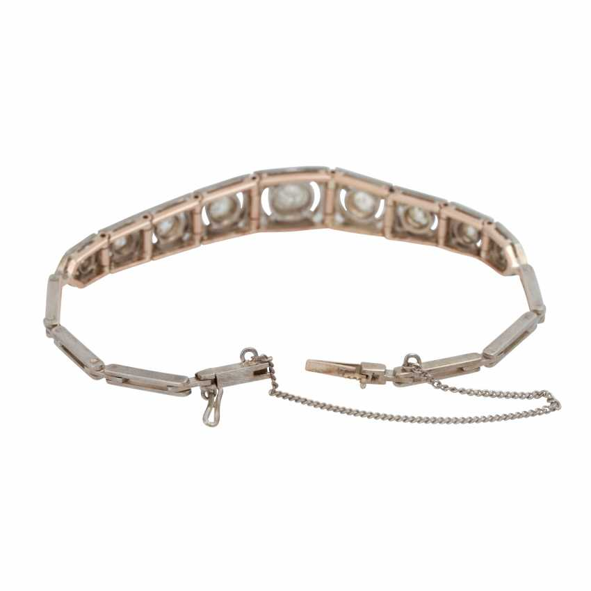 Art Deco bracelet with old European cut diamonds, together CA. 2 ct - photo 4