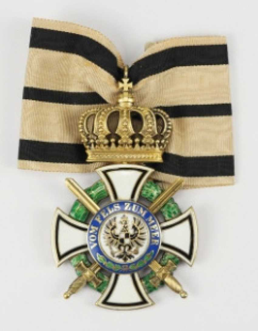 Prussia: house order of Hohenzollern, cross of the Commanders with swords.