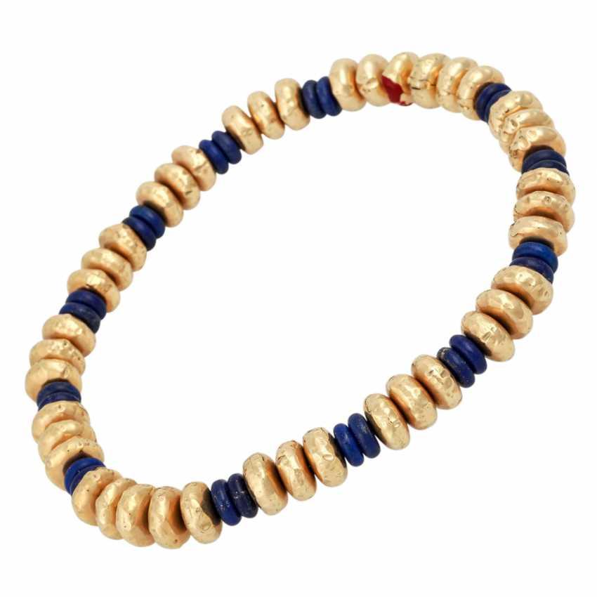 Collier of lapis lazuli - photo 3