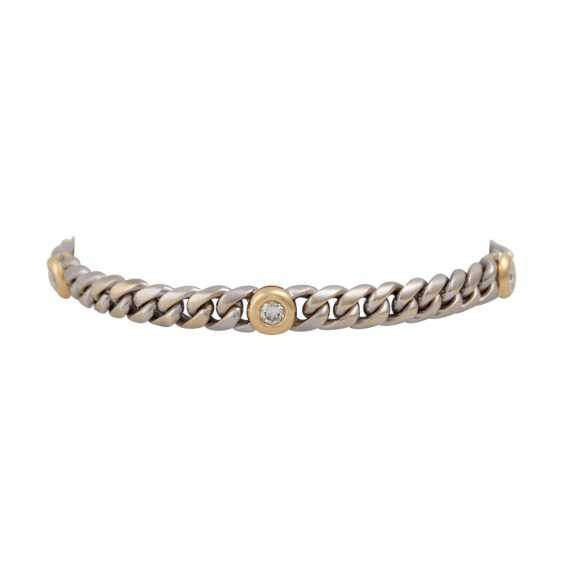 Chain bracelet with 5 diamonds, together CA. 0,75 ct, - photo 1