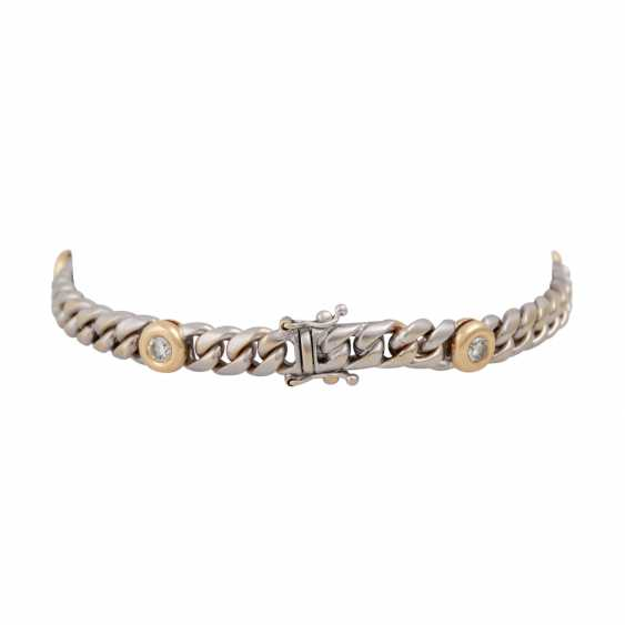 Chain bracelet with 5 diamonds, together CA. 0,75 ct, - photo 2