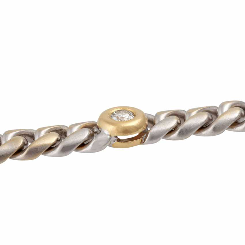 Chain bracelet with 5 diamonds, together CA. 0,75 ct, - photo 5