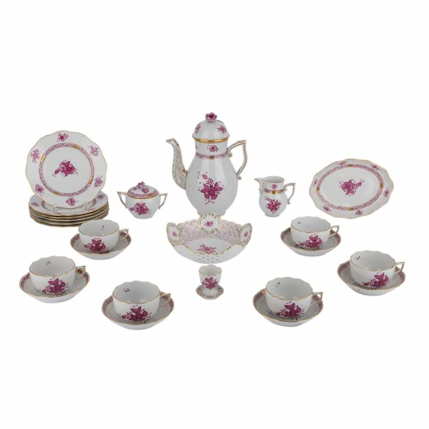 HEREND coffee service for 6 persons 'Apponyi purple', 20. Century. - photo 1