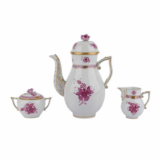 HEREND coffee service for 6 persons 'Apponyi purple', 20. Century. - photo 2