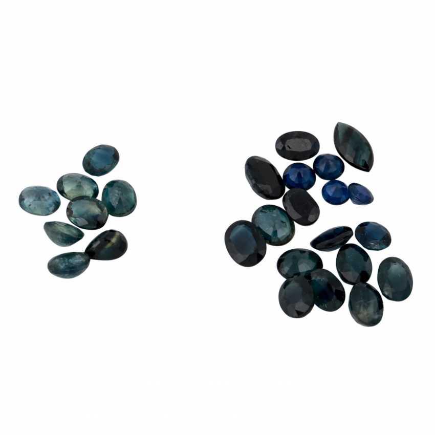 Vintage green blue sapphires: - photo 1