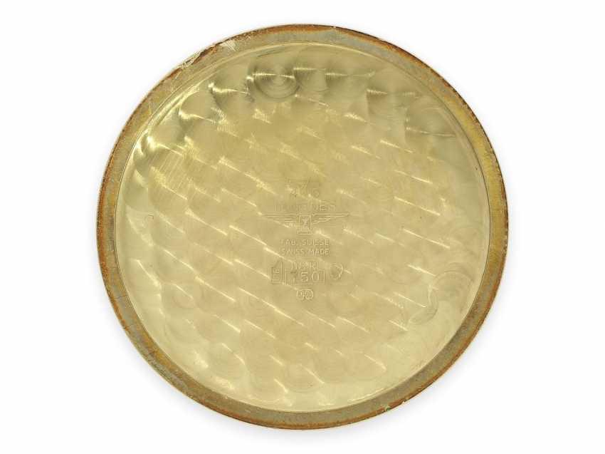 "Pocket watch: extremely rare, mint condition Gold/enamel-Savonnette ""Venezia"", Longines No. 52952854, 70s, with original box! - photo 4"
