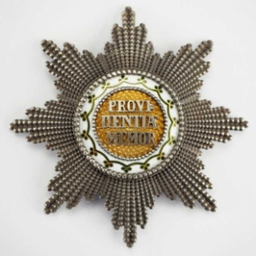 Saxony: house order of the diamond crown, breast star.
