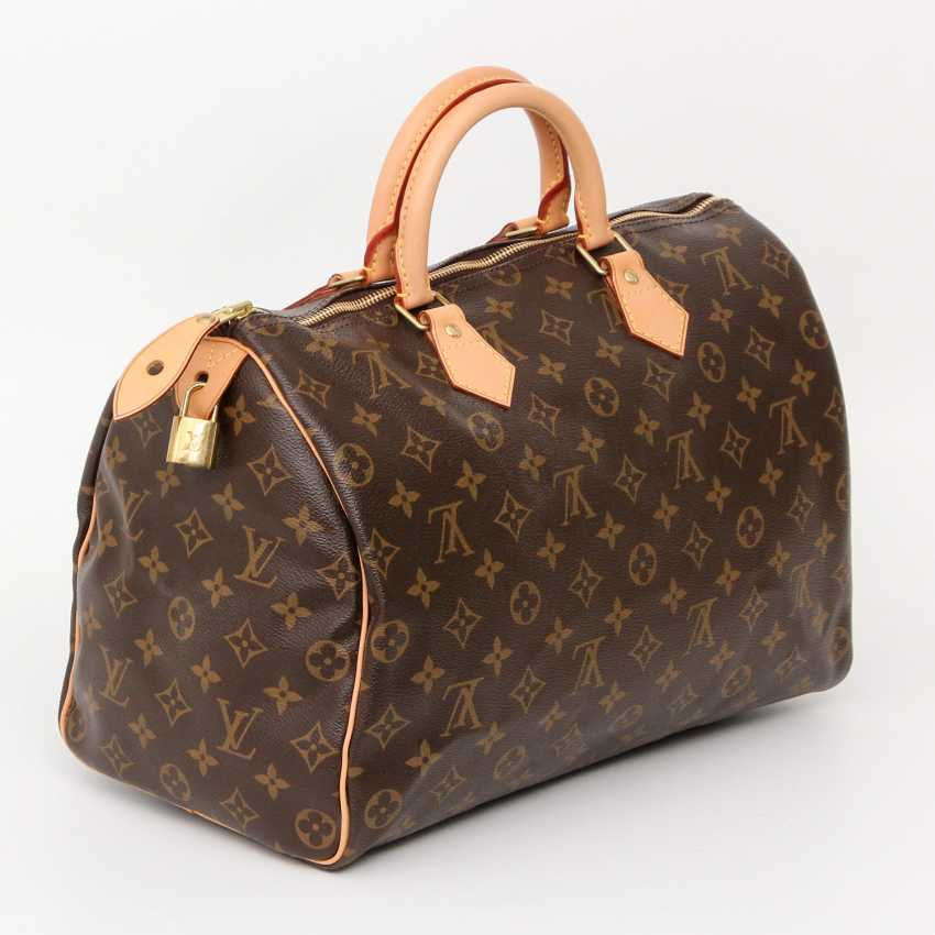 los 19 louis vuitton klassische henkeltasche speedy 35 neupreis ca 775 aus dem katalog. Black Bedroom Furniture Sets. Home Design Ideas