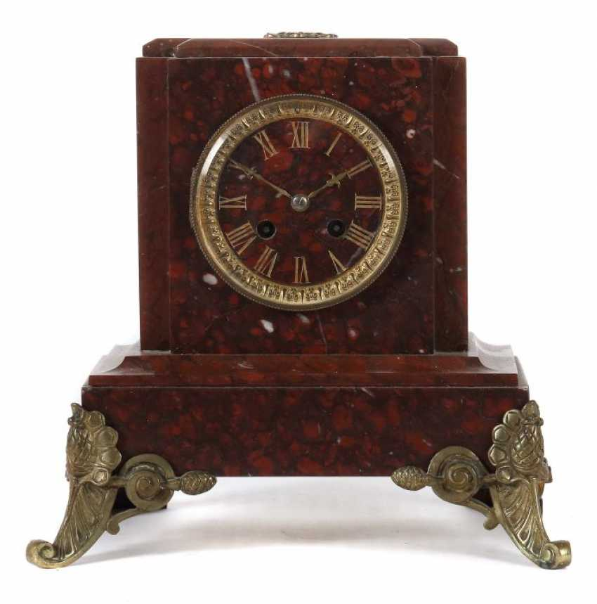 Pedestal-Shaped Mantel Clock End Of The 19th Century. Century - photo 1