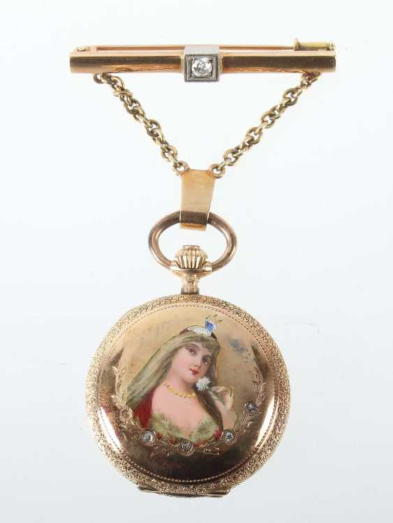 Ladies FOB watch with brooch at the beginning of 20. Century - photo 1