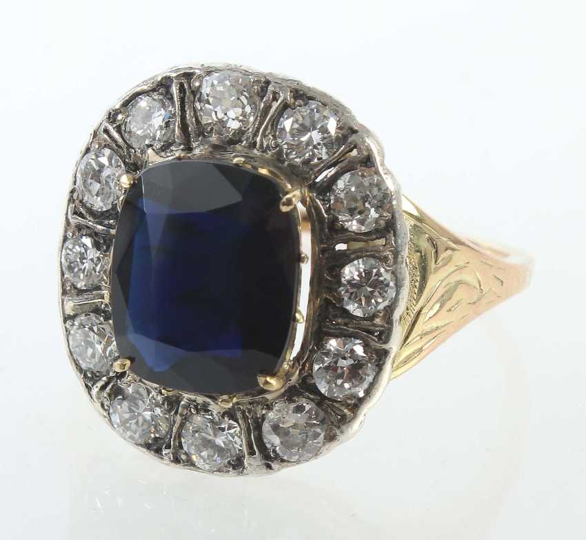 Sapphire ring 2. Half of the 19th century. Century - photo 1
