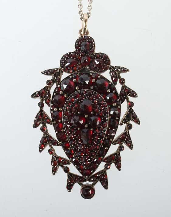 Garnet Pendants Probably 1. Half of the 20. Century - photo 1