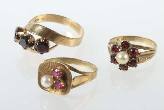 3 Ladies Rings Mid 20's. Century - photo 1