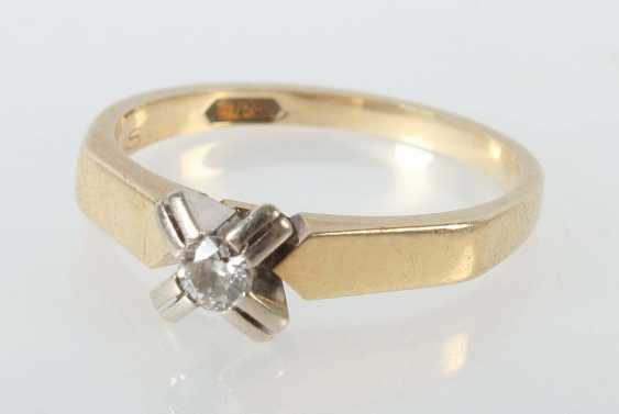 Solitaire ring 1980s - photo 1