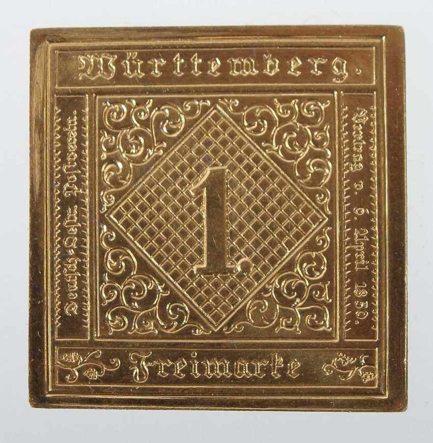 "Gold Stamp ""1 Kreuzer Black"" State. Coin - photo 1"