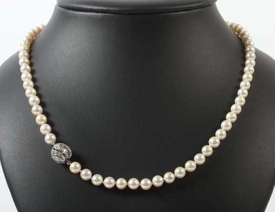 Pearl necklace 2. Half of the 20. Century - photo 1