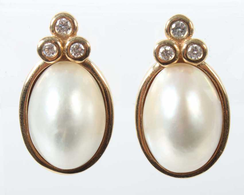 Pair Of Clip Earrings At The End Of 20. Century - photo 1