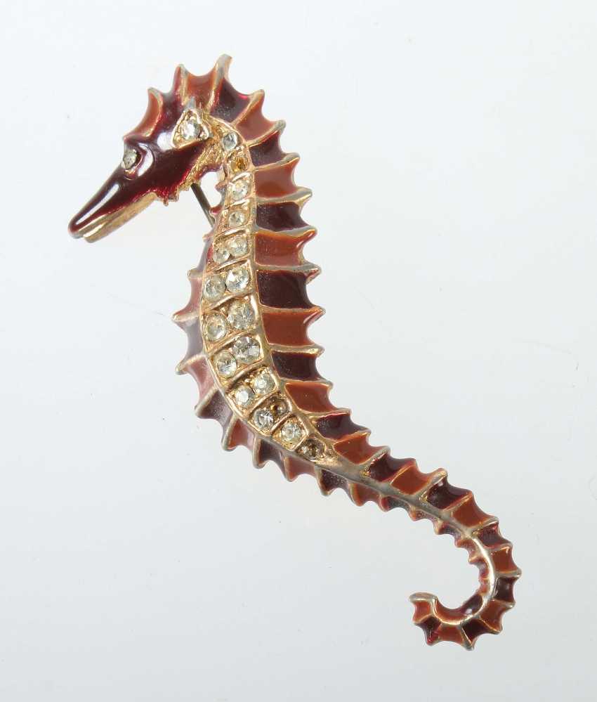 Seahorse Brooch Mid 20's. Century - photo 1