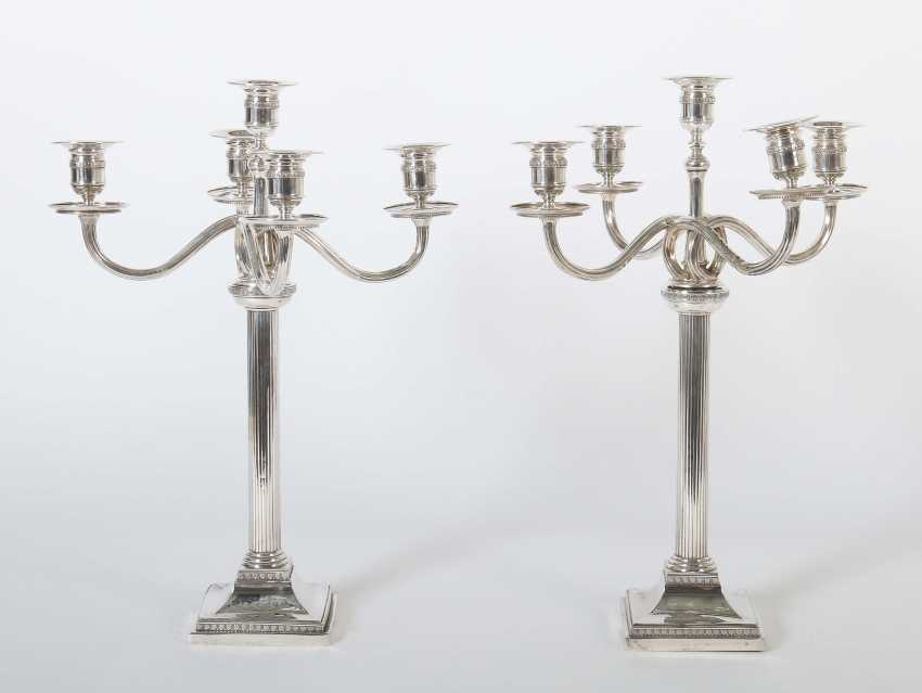 Pair of five-flame candelabra G. Schnauffer - photo 1