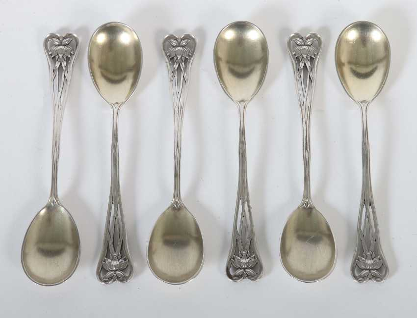 Set of 6 art Nouveau coffee spoons by Wilkens & sons - photo 1