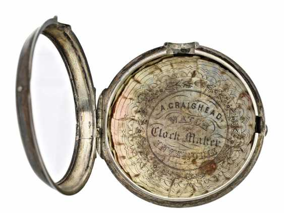 Pocket watch: high-grade English double case-Spindeluhr, Robinson, London, 1823 - photo 3