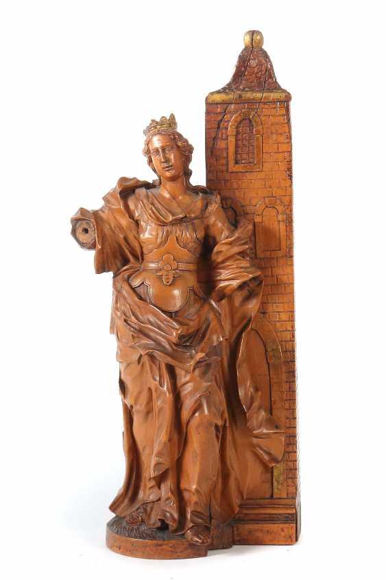 """Carver of the 17th century. Century """"Saint Barbara"""" - photo 1"""