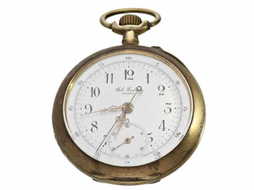 Pocket watch: rare Chopard pocket watch with center second, about 1900 - photo 1