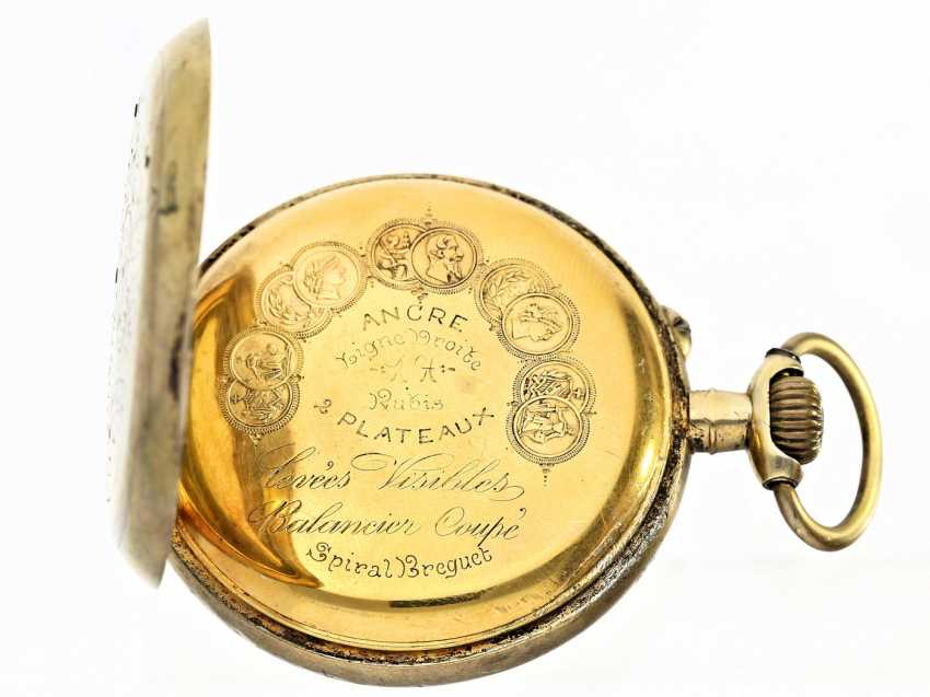 Pocket watch: rare Chopard pocket watch with center second, about 1900 - photo 2