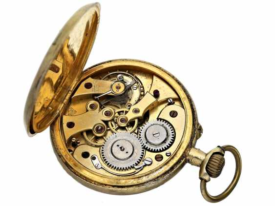 Pocket watch: rare Chopard pocket watch with center second, about 1900 - photo 3