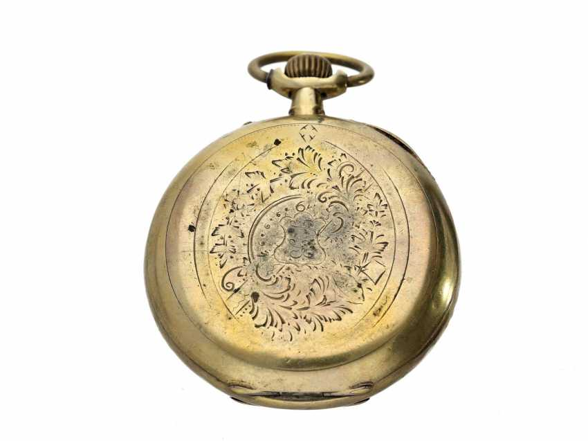 Pocket watch: rare Chopard pocket watch with center second, about 1900 - photo 4