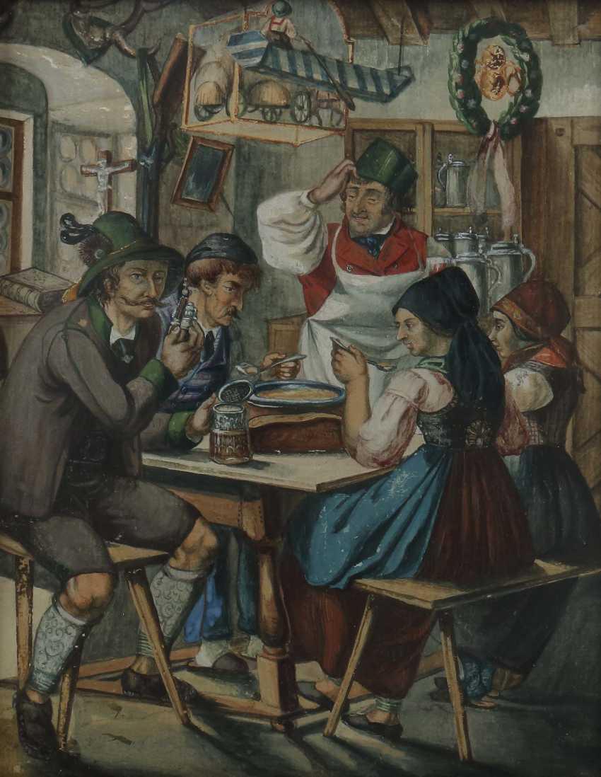 "Genre painter of the 19th century. Century, ""Living Room Interior"" - photo 1"