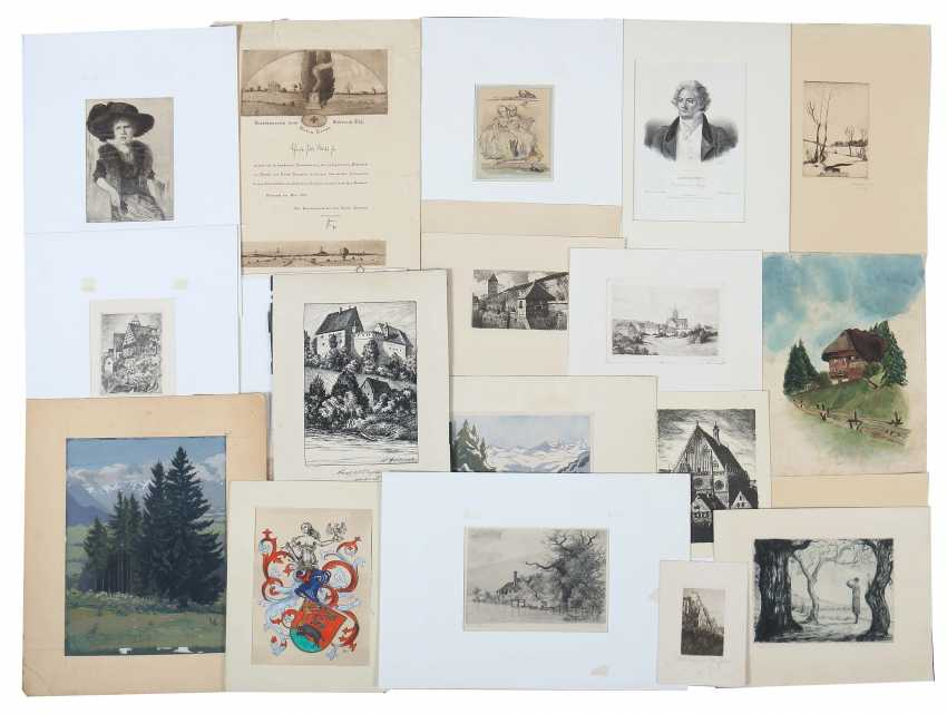 Various printmakers of the 19th century./20. Century, among other things, Paul Dörr - photo 1