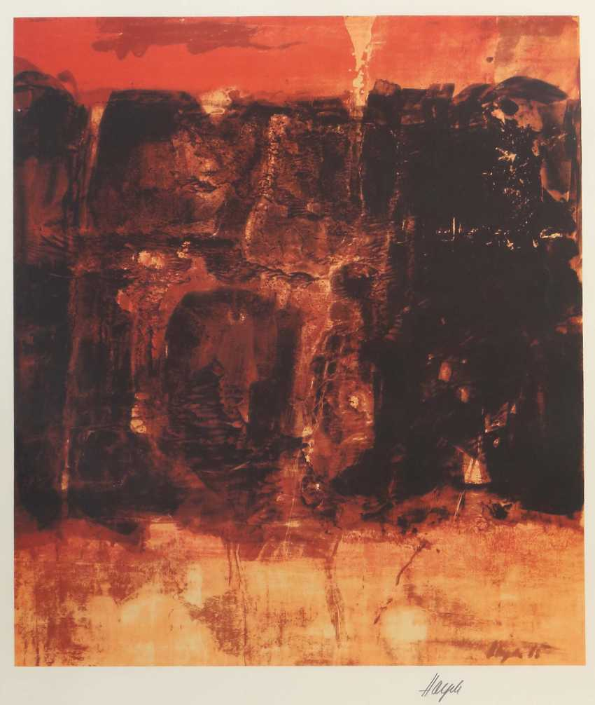 "Painter 20. Century ""Abstract composition in Red"" - photo 1"