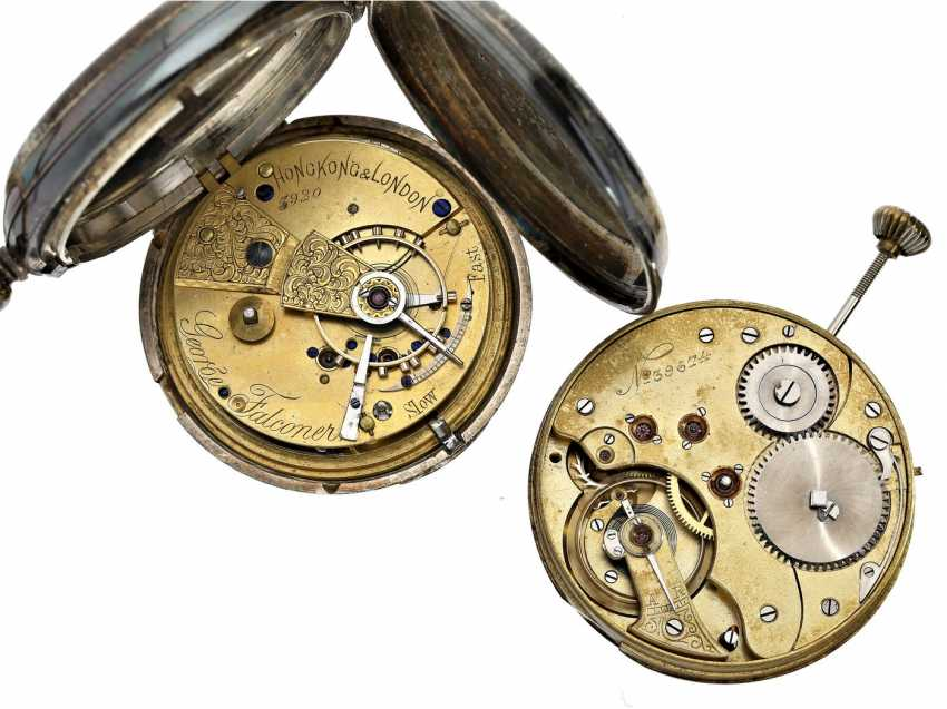 Pocket watch: vintage from a fine pocket watch (George Falconer, Hong Kong & London) and a precision pocket watch movement - photo 2