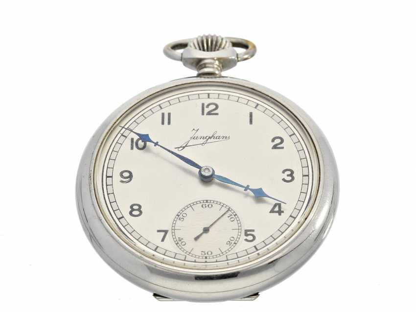 Pocket watch: very decorative and well-preserved Art Deco Frackuhr of the brand Junghans - photo 1