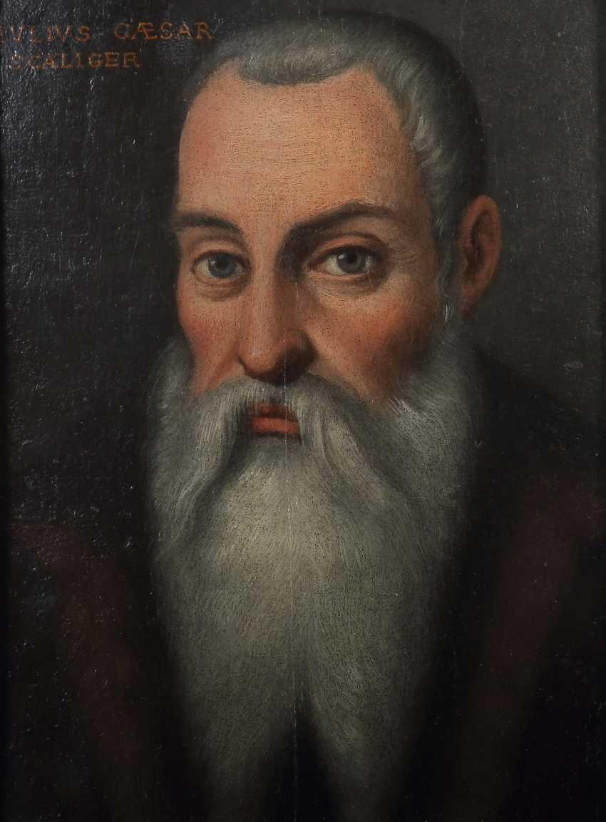 "Portrait painter of the 17th century./18. Century, ""Portrait of the humanist Julius Caesar Scaliger"" - photo 1"