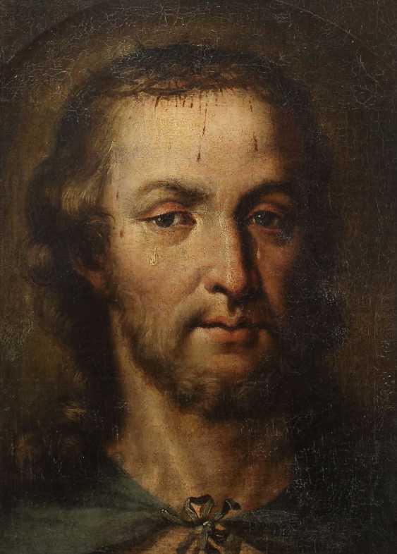 "Religious painter of the 17th century./18. Century, ""Christ with the crown of thorns"" - photo 1"