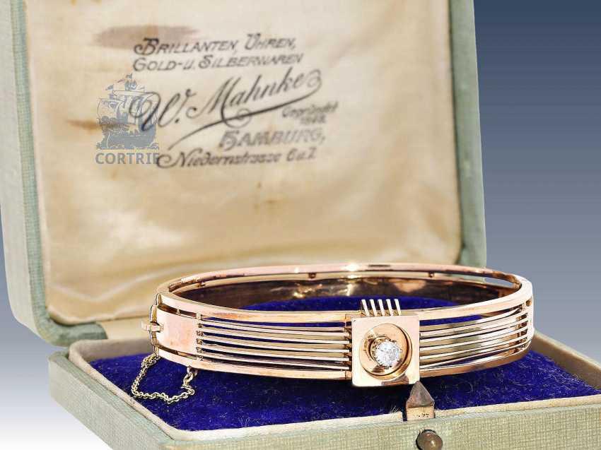 Bracelet: antique bracelet with old European cut Russia brilliant, at the time of art Nouveau - photo 2