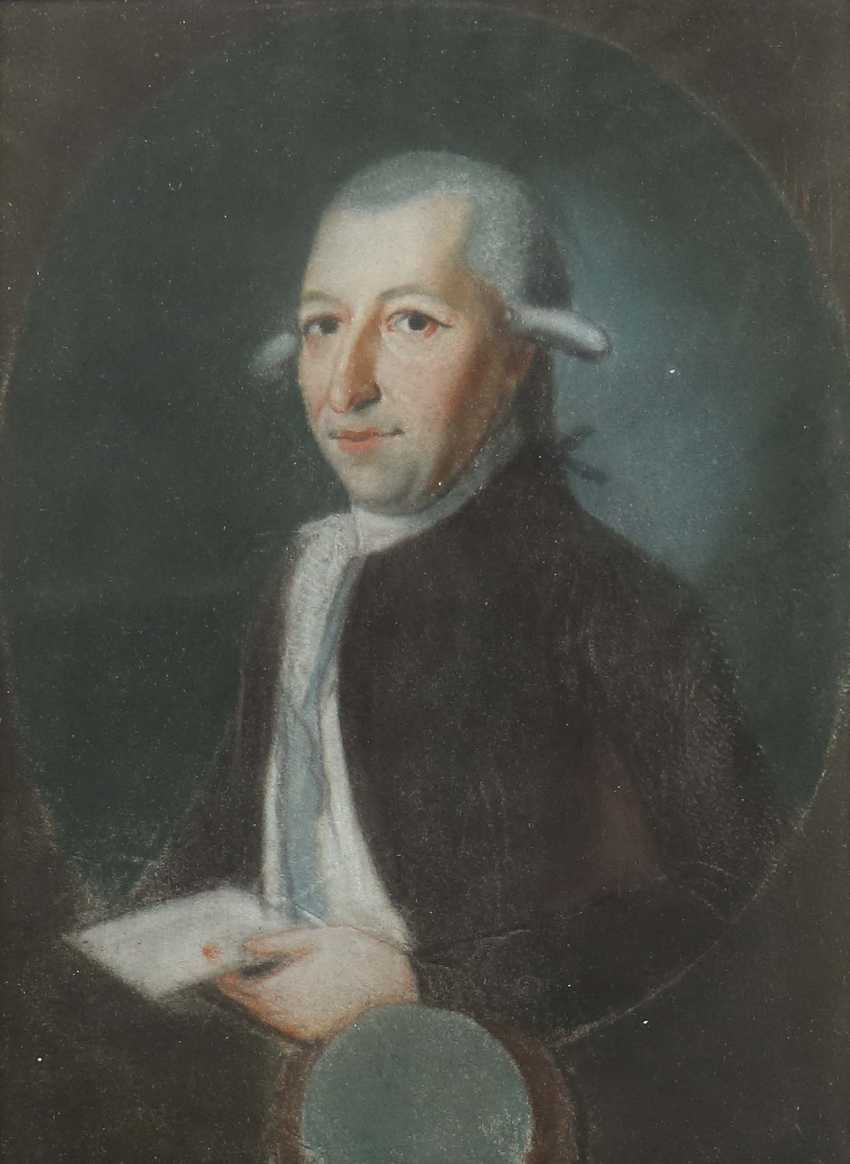 Portrait artist of the 18th century. Century probably Germany or France - photo 1