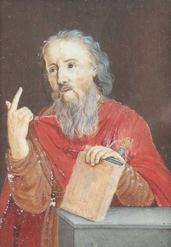 "Miniature painter of the 18th century./19. Century, ""portrait of the Hl. Paul (?)"" - photo 1"
