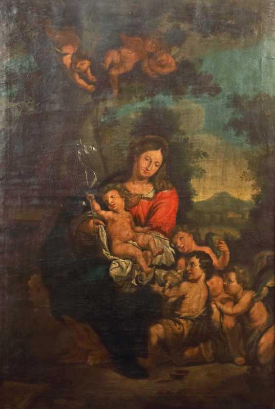 "Italian painter of the 18th century./19. Century ""Madonna with child Jesus and John the boys"" - photo 1"