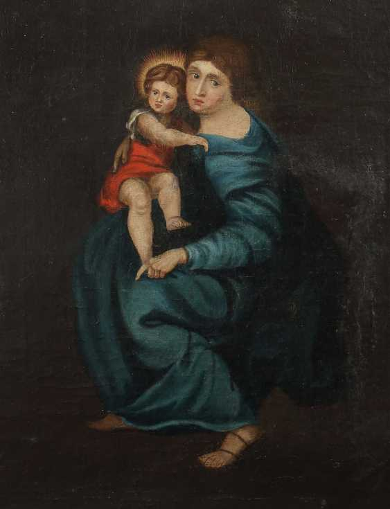 "Church painter of the 18th century./19. Century ""virgin with child Jesus"" - photo 1"
