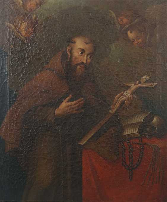 """Painter of the 18th century./19. Century """"Saint Francis of Assisi"""" - photo 1"""