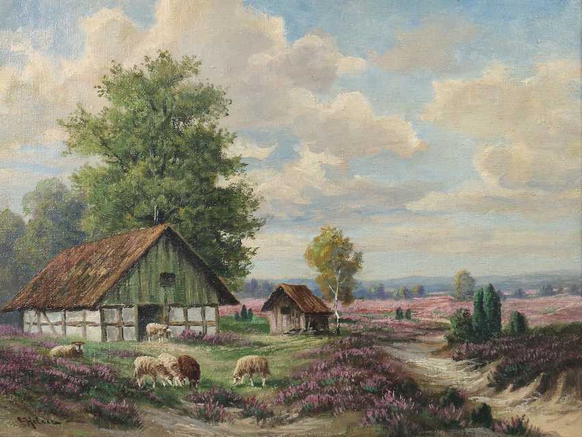 "Landscape painter of the 19th century. Century, ""Lavender Bloom"" - photo 1"