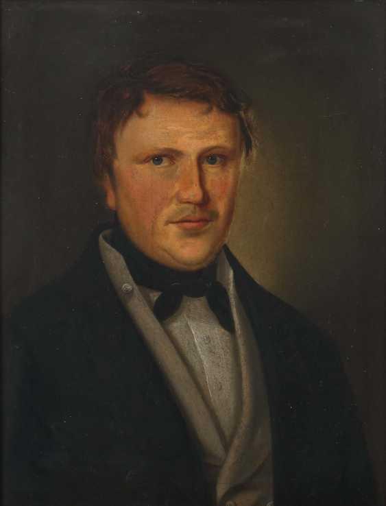 """Portrait artist of the 19th century. Century """"Biedermeier-Mr-Portrait"""" - photo 1"""