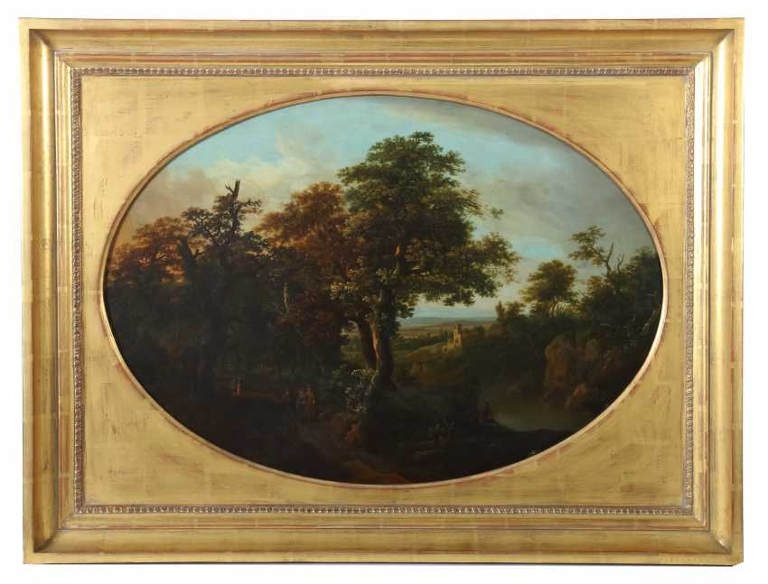 "Landscape painter of the 19th century. Century, ""ideal landscape with figure staffage"" - photo 1"