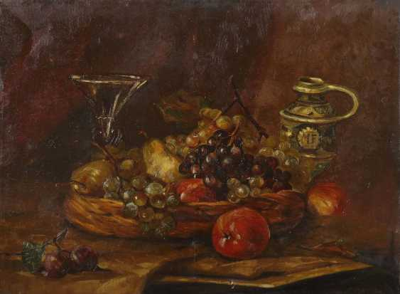 """Painter of the 19th century./20. Century """"Still Life With Fruits"""" - photo 1"""