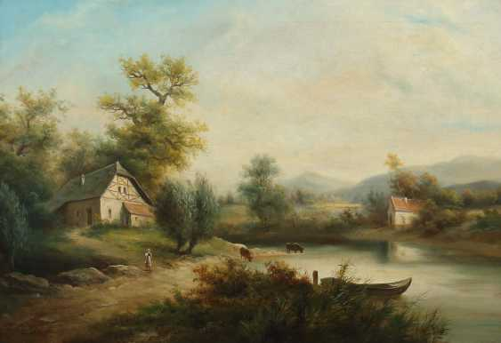"Painter of the 19th century./20. Century, ""Idyllic River Landscape"" - photo 1"