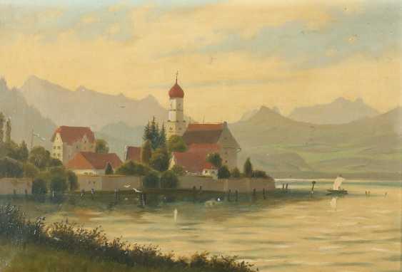 "Painter of the 19th century./20. Century ""Wasserburg am Bodensee"" - photo 1"